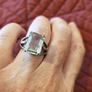 Vintage Sterling Silver Quartz Ring
